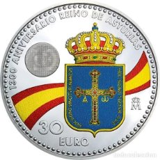 Euros: ESPAÑA 30 EURO 2018 PLATA - REY FELIPE VI Y LEONOR PRINCESA DE ASTURIAS-. Lote 206764540