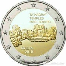 Euros: MALTA 2 EUROS 2019 SITIOS PREHISTÓRICOS DE MALTA TEMPLOS DE TA' HAGRAT. Lote 238334930