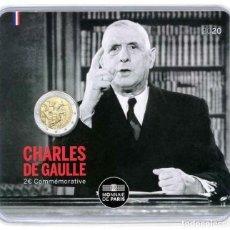 Euros: FRANCIA 2020 2€ COINCARD DE GAULLE. Lote 209684280