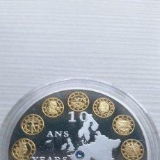 Euros: BONITA MONEDA CON PIEDRA SWAROVSKI CONMEMORATIVA A 10 AÑOS DE EURO EN ALEMANIA 2002-2012. Lote 209969962