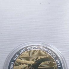Euros: MEDALLA CONMEMORATIVA EURO ALEMANIA INSCRUSTACIONES SWAROSKI BANDERA- VER FOTOS. Lote 210461390