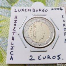 Euros: MONEDA 2 EUROS LUXEMBURGO 2004 MBC ENCARTONADA. Lote 210636746