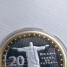 Euros: MEDALLA MUNDIAL DE FUTBOL BRASIL ALEMANIA - CÁPSULA PROOF. Lote 210944376