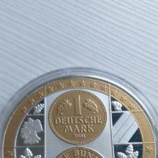 Euros: MEDALLA CONMEMORATIVA MARCO ALEMAN UNIÓN EUROPEA- EURO - CÁPSULA PROOF. Lote 210944746
