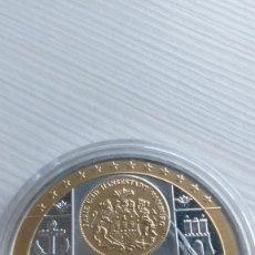 Euros: MEDALLA CONMEMORATIVA MARCO ALEMAN HAMBURGO TESOROS PRECIOSOS UNIÓN EUROPEA- EURO - CÁPSULA PROOF. Lote 210945376