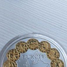 Euros: MEDALLA-CU PLATEADO CON BAÑO DE ORO-EUROPA-1.1.2002- EUROPA-- EURO - CÁPSULA PROOF. Lote 210945757