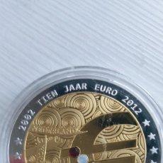 Euros: MEDALLA 2012 HOLANDA 10 AÑOS EURO.CÁPSULA PROOF EUROPA-- EURO - CÁPSULA PROOF. Lote 210946584
