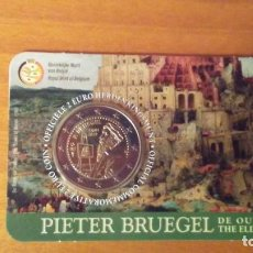 Euros: 2 EUROS -BÉLGICA 2019- PIETER BRUEGHEL EL VIEJO - COINCARD VERSIÓN HOLANDESA. Lote 268918579