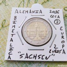 Euros: MONEDA 2 EUROS ALEMANIA 2016 CECA J SACHSEN MBC ENCARTONADA. Lote 277850863