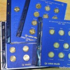 Euros: ÁLBUM FILABO CON MONEDAS DE 2€ TRATADO DE ROMA 2007 Y UEM 2009 SERIES COMPLETAS - LOT. 3324. Lote 213182963