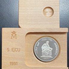 Euro: ESPAÑA, MONEDA DE 5 ECUS DEL AÑO 1991. Lote 214322768