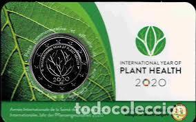 BELGICA 2020. COINCARD MONEDA DE 2 EUROS. AÑO INTERNACIONAL DE LA SANIDAD VEGETAL. VERSION FRANCESA (Numismática - España Modernas y Contemporáneas - Ecus y Euros)