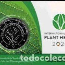 Euros: BELGICA 2020. COINCARD MONEDA DE 2 EUROS. AÑO INTERNACIONAL DE LA SANIDAD VEGETAL. VERSION FRANCESA. Lote 225544035