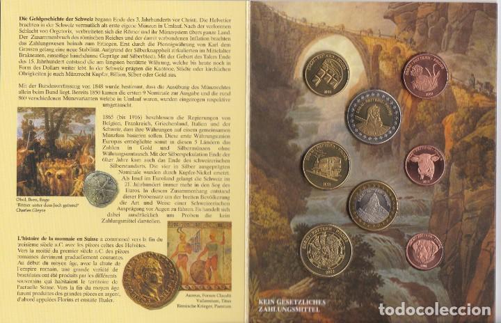 CARTERA DE EUROS DE PRUEBA DE SUIZA DEL AÑO 2003 (Numismática - España Modernas y Contemporáneas - Ecus y Euros)
