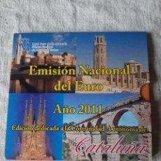 Euros: CATALUÑA SET OFICIAL EUROS /MEDALLA AUTONOMÍA 2011 SIN CIRCULAR FNMT ESPAÑA. Lote 217400985