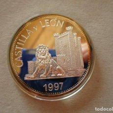 Euros: CASTILLA Y LEON . 30 EUROS DE 1996 . MEDALLA DE PLATA PURA . REINO DE ESPAÑA MAYOR PESO QUE UNA ONZA. Lote 217965145