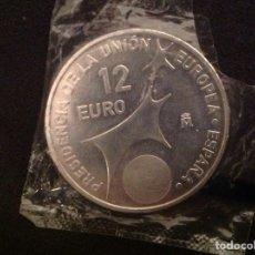 Euros: MONEDA 12 EUROS PRESIDENCIA EUROPEA 2002. Lote 218840023