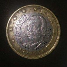 Euros: 1 EURO JUAN CARLOS I 2000, ERRORES VARIOS.. Lote 220902625