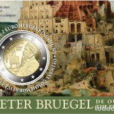 Euros: BELGICA 2019. 2 EUROS COINCARD. 450º ANIVERSARIO DE LA MUERTE DE PIETER BRUEGHEL EL VIEJO. HOLANDESA. Lote 221386723