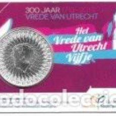 Euros: HOLANDA, 5 EUROS 2013 COINCARD. 300 ANIVERSARIO DE LA PAZ DE UTRECHT. Lote 221397956