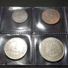 Euros: SERIE COMPLETA EUROS CHURRIANA * 8 MONEDAS * PRUEBA (SIN CIRCULAR). Lote 221443578