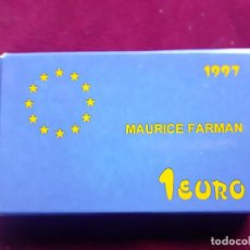 Euros: PLATA 1 EURO 1997 , MAURICE FARMAN , CON CAJA Y GARANTIA. Lote 221705847
