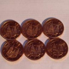 Euros: 6 MONEDAS DE 5 CÉNTIMOS DE EURO CASI SIN USO. Lote 221733558