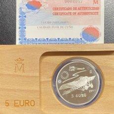 Euros: ESPAÑA, LOTE FORMADO POR DOS MONEDAS DE 1 EURO Y 5 EUROS. Lote 221742235