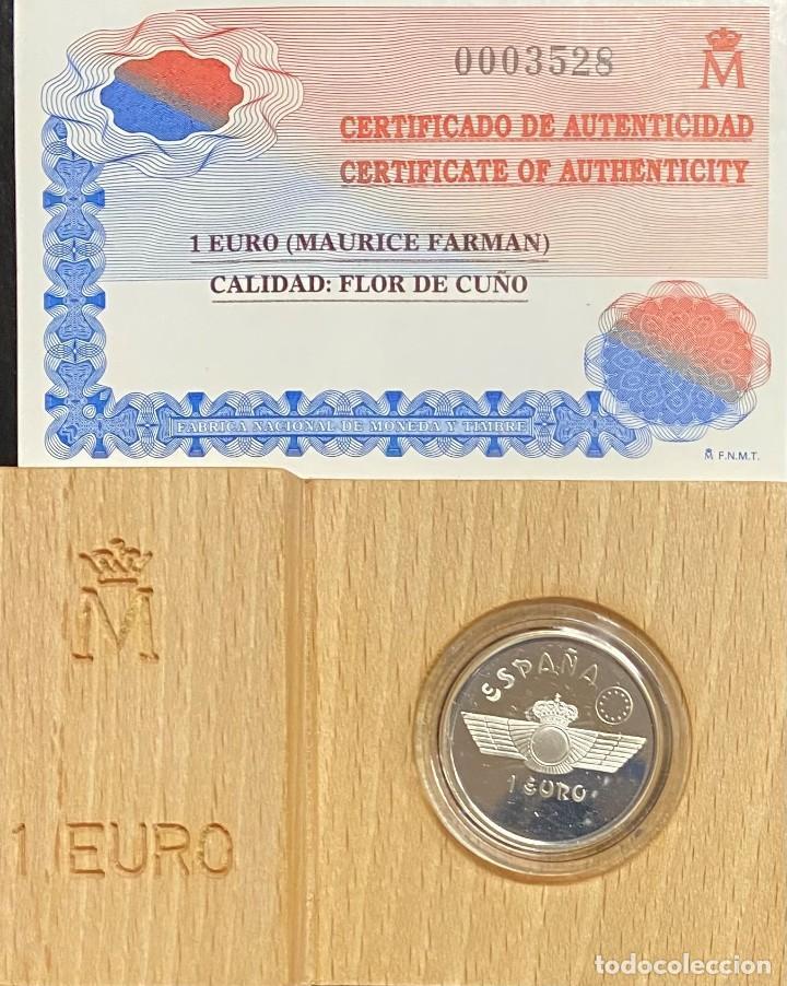 Euros: ESPAÑA, LOTE FORMADO POR DOS MONEDAS DE 1 EURO Y 5 EUROS - Foto 2 - 221742235