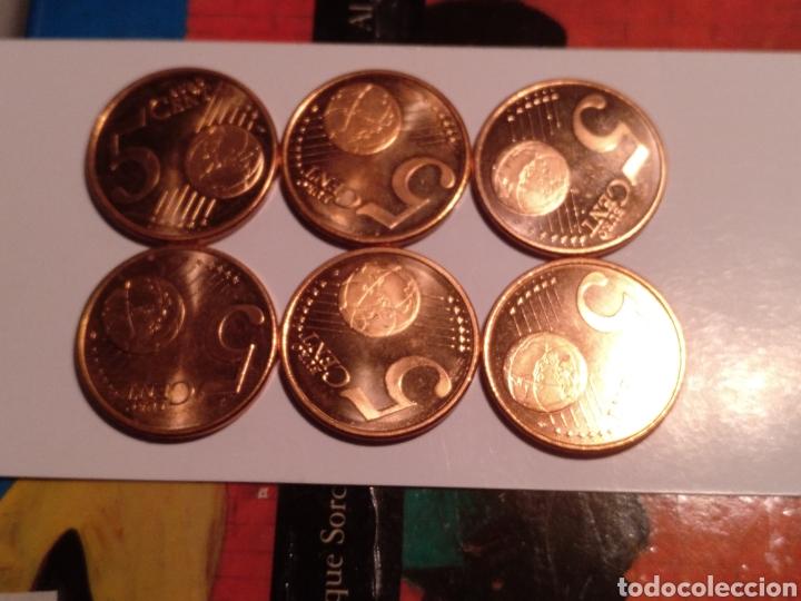 6 MONEDAS DE 5 CÉNTIMOS DE EURO CASI SIN USO (Numismática - España Modernas y Contemporáneas - Ecus y Euros)