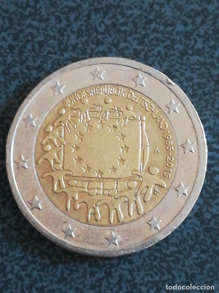 2 EURO ALEMANIA 2015 A CONMEMORATIVA 30 ANIVERSARIO - BANDERA DE LA UNIÓN EUROPEA (Numismática - España Modernas y Contemporáneas - Ecus y Euros)
