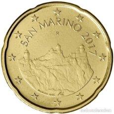 Euros: 20 CENTIMOS SAN MARINO 2018 SC. Lote 235543255