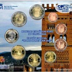 Euros: BLISTER EUROS ESPAÑA 2020 PARA LA FERIA DE BERLÍN. EMISIÓN OFICIAL (EURO SET).. Lote 222348716