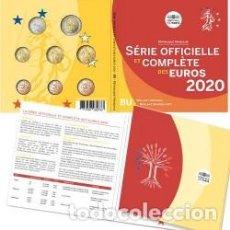 Euros: CARTERA EUROS FRANCIA 2020. EMISIÓN OFICIAL (EURO SET).. Lote 222349557