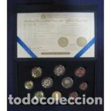 Euros: ESTUCHE DE EUROS ENCAPSULADOS DE MALTA 2013 REPRODUCCION DE UN TREMIS DEL IMPERIO BIZANTINO.. Lote 222351270
