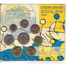 Euros: BLISTER-CARTERA DE EUROS DE GRECIA DE 2009. EURO SET. EMISIÓN OFICIAL.. Lote 222359055