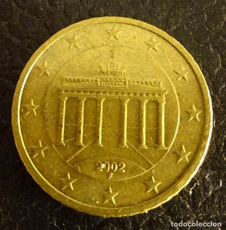 ALEMANIA 50 CÉNTIMOS DE EURO 2002 F (Numismática - España Modernas y Contemporáneas - Ecus y Euros)