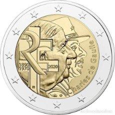 Euros: FRANCIA 2 EUROS 2020 GENERAL CHARLES DE GAULLE. Lote 278699133