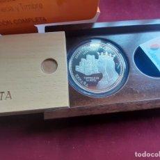 Euros: ESPAÑA 50 EUROS CINCUENTÍN DE PLATA 2004 CASTILLO DE LA MOTA ISABEL I DE CASTILLA. Lote 223263107