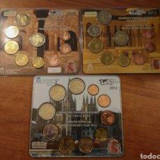 Euros: ESPAÑA 3 CARTERAS WORLD MONEY FAIR 2010 2011 2012. Lote 223746436