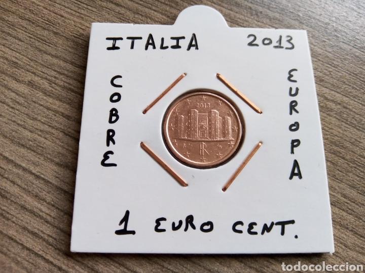 MONEDA 1 EURO CENT ITALIA 2013 MBC ENCARTONADA (Numismática - España Modernas y Contemporáneas - Ecus y Euros)