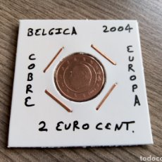 Euros: MONEDA 2 EURO CENT BÉLGICA 2004 MBC ENCARTONADA. Lote 224560091