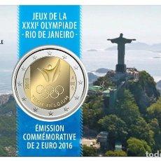 Euros: 2 EUROS CONMEMORATIVA BELGICA 2016 EQUIPO OLIMPICO COINCARD. Lote 254262700