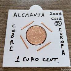 Euros: MONEDA 1 EURO CENT ALEMANIA 2004 CECA D MBC ENCARTONADA. Lote 225793750