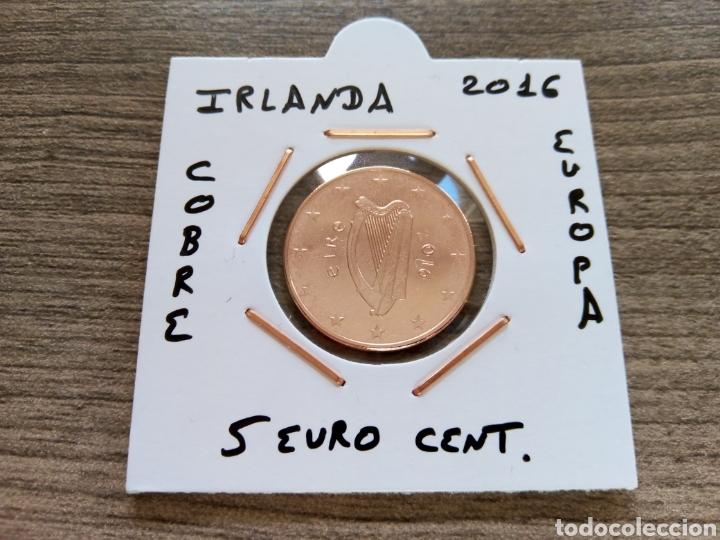MONEDA 5 EURO CENT IRLANDA 2016 MBC ENCARTONADA (Numismática - España Modernas y Contemporáneas - Ecus y Euros)