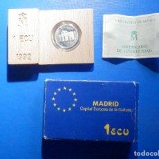 Euros: 1 ECCU PLATA .925 - 1992 - ESPAÑA - CAPITAL EUROPEA DE LA CULTURA - S/C. Lote 226142135