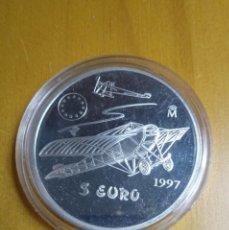 Euros: MONEDA PLATA. 5 EU AVIACION ESPAÑOLA 1997.. Lote 226502740