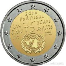 Euros: PORTUGAL 2€ 2020 75 AÑOS DE LAS NACIONES UNIDAS. Lote 228627010