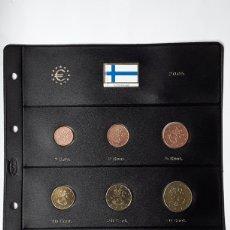 Euros: SERIE COMPLETA EUROS FINLANDIA 2005. SIN CIRCULAR EN HOJA PARDO. Lote 229044205