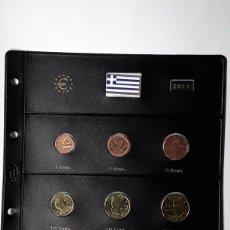 Euros: SERIE COMPLETA EUROS GRECIA 2011. SIN CIRCULAR EN HOJA PARDO. Lote 229047010
